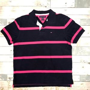 Tommy Hilfiger Mens Polo Striped Shirt Size L